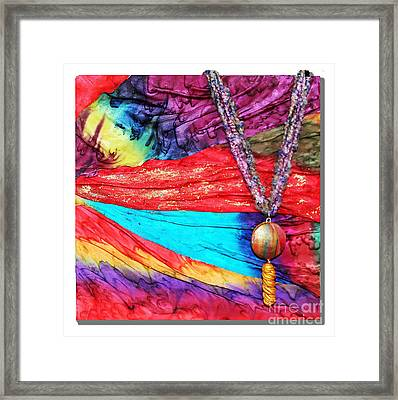 Silk Canvas With Necklace Framed Print by Alene Sirott-Cope