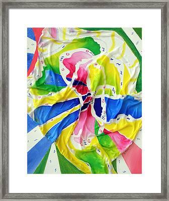 Silk Color Whirl Framed Print by Sandra Fox