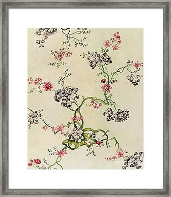 Silk Design Framed Print by Anna Maria Garthwaite