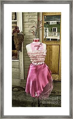 Silk Dress Framed Print