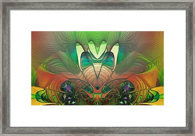 Silk Fan - Abstract  Framed Print