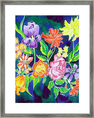 Silk Floral 1 Framed Print