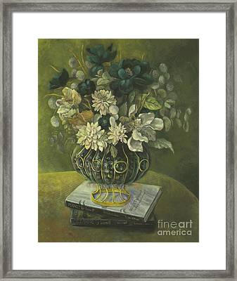 Silk Floral Arrangement Framed Print by Marlene Book