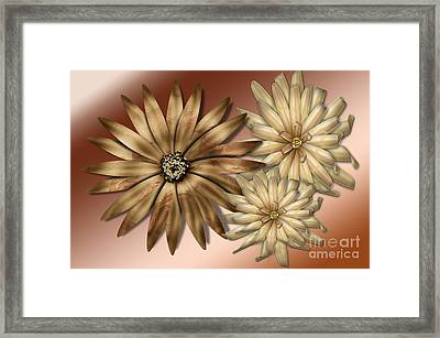 Silk Flowers Framed Print by Tina M Wenger
