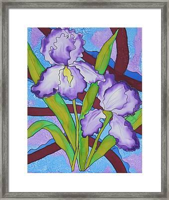 Silk Iris Framed Print