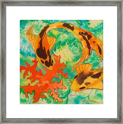 Silk Koi Framed Print by Joanne Smoley