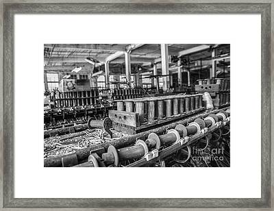 Silk Mill Floor Framed Print by Terry Rowe