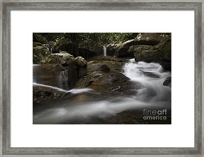 Framed Print featuring the photograph Silk Rapids.  by Gary Bridger