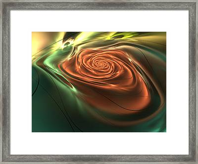 Silk Rose Framed Print