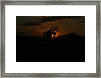 Silk Sunset Framed Print