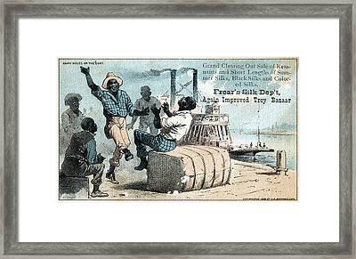 Silk Trade Card, C1880 Framed Print by Granger