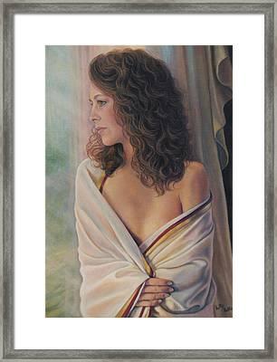 Silken Serenity Framed Print by Holly Kallie