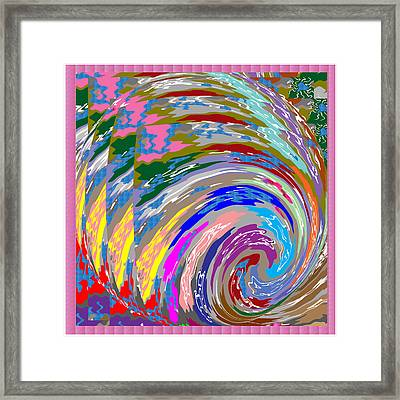 Colorful Fineart Silken Spiral Waves Pattern Decorative Art By Navinjoshi At Fineartamerica.com Framed Print by Navin Joshi