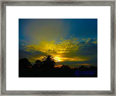 Silken Sunset Framed Print