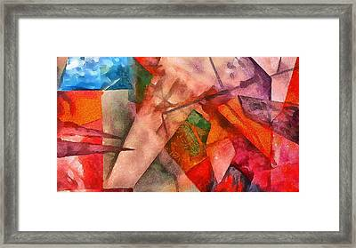 Framed Print featuring the digital art Silky Abstract by Catherine Lott