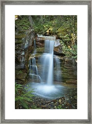 Silky Flow Of Waterfalls, Rainbow Framed Print by Roberta Murray