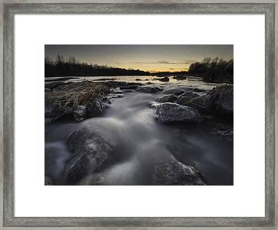 Silky River Framed Print by Davorin Mance
