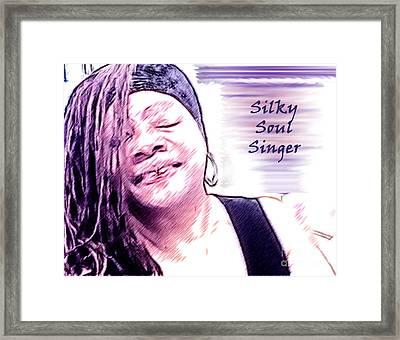 Silky Soul Singer Framed Print