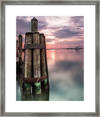 Silky Sunrise Framed Print