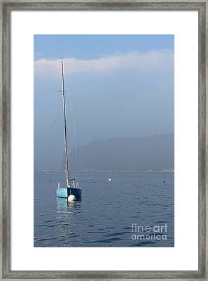 Sill Boat In Maine Framed Print