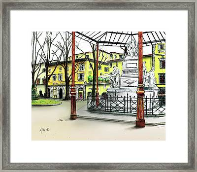 Framed Print featuring the painting Silla Hotel Piazza Demidoff Florence by Albert Puskaric