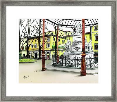 Silla Hotel Piazza Demidoff Florence Framed Print by Albert Puskaric
