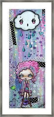 Sillie Smilie Showers Framed Print by Oddball Art Co by Lizzy Love