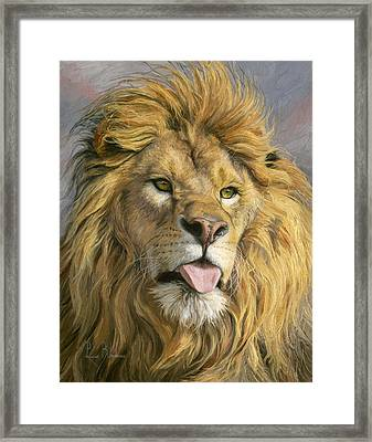 Silly Face Framed Print by Lucie Bilodeau