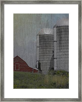 Silo And Barn Framed Print by Photographic Arts And Design Studio