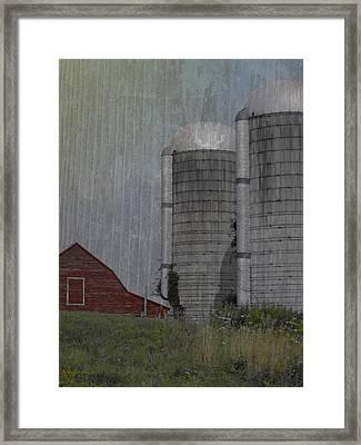 Silo And Barn Framed Print