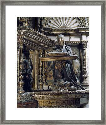 Silo�, Diego De 1495-1563. Isabella I Framed Print by Everett