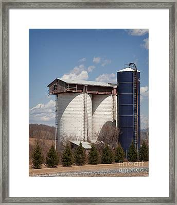 Framed Print featuring the photograph Silo House With A View - Color by Carol Lynn Coronios