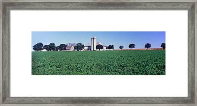 Silo In A Farm, Amish Country, Holmes Framed Print