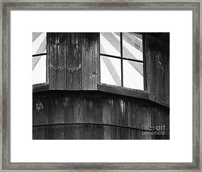 Silo Framed Print by Jim Rossol