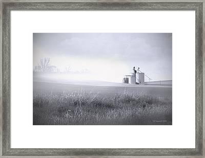 Silo Mist Framed Print by Melisa Meyers
