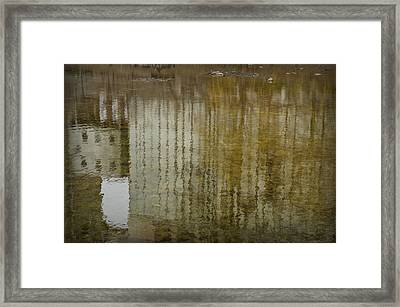 Silo Reflection Framed Print by Eric Soucy