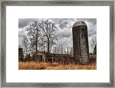 Silo Framed Print by Scott Holmes