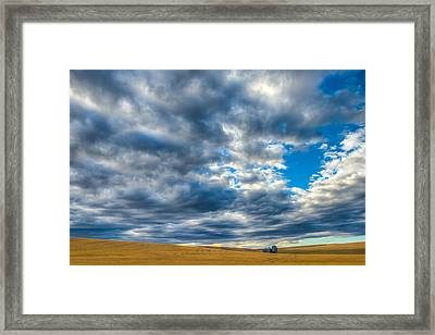 Silo Under Big Palouse Sky Framed Print