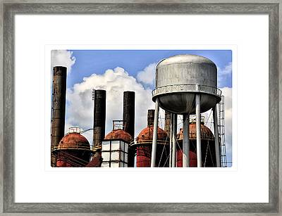 Silos In The Sky Framed Print