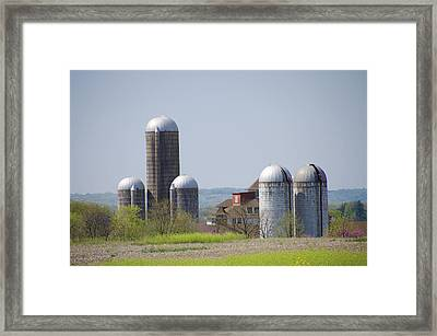 Silos - Norristown Farm Park Framed Print by Bill Cannon