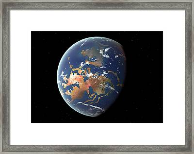 Silurian Earth Framed Print by Walter Myers