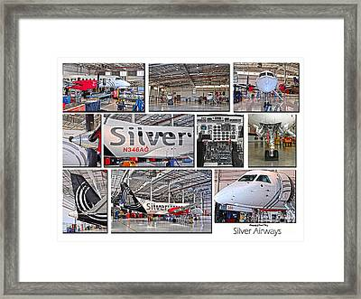 Silver Airways Large Composite Framed Print by Diane E Berry