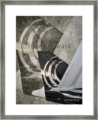 Silver Airways Tail Logo Framed Print by Diane E Berry