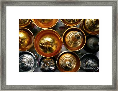 Silver And Gold Oil Lamps Framed Print by Dean Harte