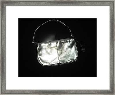 Silver Bag With Rose Locket Framed Print by Robert Cunningham