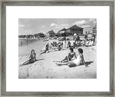 Silver Beach On Cape Cod Framed Print by Underwood Archives