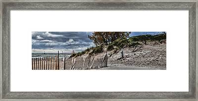 Silver Beach Pano 2 Framed Print by John Crothers