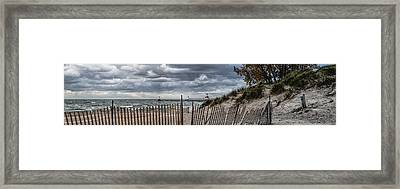Silver Beach Pano Framed Print by John Crothers
