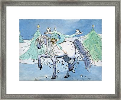 Framed Print featuring the painting Silver Belles by Katherine Miller