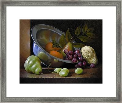 Silver Bowl Framed Print